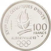France, Albertville, 100 Francs, 1991, Cross-country skier, MS, KM:994