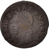 France, Louis XIII, Double tournois, 1643, Bordeaux, KM:127.7
