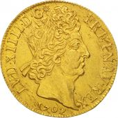 France, Louis XIV, Double Louis Dor, 1702, Paris, Or, KM:335.1