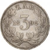 South Africa, 3 Pence, 1896, Silver, KM:3