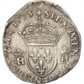 France, Henri III, Teston, 1575, Paris, Argent, Duplessy:1126
