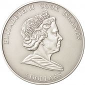 Cook Islands, Elizabeth II, 5 Dollars, 2010, Martin Luther King, Silver, KM:729