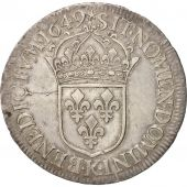 France, Louis XIV, Ecu, 1649, Bordeaux, Silver, KM:155.9