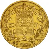 France, Louis XVIII, 20 Francs, 1820, Nantes, Gold, KM:712.8