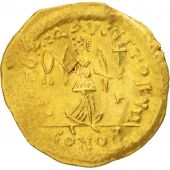 Justin II, Tremissis, 565-578 AD, Constantinople, Gold, Sear:353