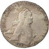 Russie, Catherine II, Rouble, 1765, Saint-Petersburg, Argent, KM:67.2a