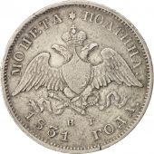 Russia, Nicholas I, Poltina, 1/2 Rouble, 1831, St. Petersburg, Silver, KM:160