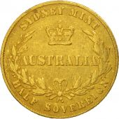 Australie, Victoria, 1/2 Sovereign, 1864, Sydney, Or, KM:3