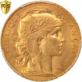 France, Marianne, 20 Francs, 1913, PCGS, MS64, Gold, KM:857