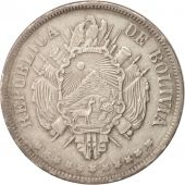 Bolivie, Boliviano, 1871 FP, Argent, KM:155.3