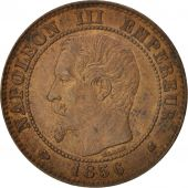 France, Napoleon III, 2 Centimes, 1856, Bordeaux, KM:776.5