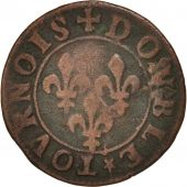 France, Château-Regnault, Double Tournois, Undated, VF(30-35), Copper, CGKL:666