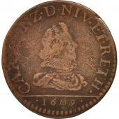FRENCH STATES, NEVERS & RETHEL, Liard, 1609, Charleville, TB, Cuivre, C2G:280