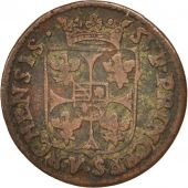 FRENCH STATES, NEVERS & RETHEL, Liard, 1610, Charleville, VF(30-35), KM:12.1