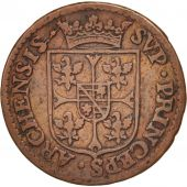 FRENCH STATES, NEVERS & RETHEL, Liard, 1610, Charleville, TTB+, Cuivre, C2G:284