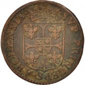FRENCH STATES, NEVERS & RETHEL, Liard, 1610, Charleville, TB+, Cuivre, C2G:284