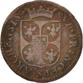FRENCH STATES, NEVERS & RETHEL, Liard, 1612, Charleville, TB, Cuivre, C2G:284