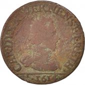FRENCH STATES, NEVERS & RETHEL, Liard, 1614, Charleville, VF(20-25), KM:12.3