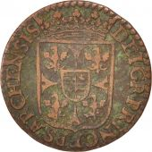 FRENCH STATES, NEVERS & RETHEL, Liard, 1614, Charleville, VF(30-35), KM:12.3