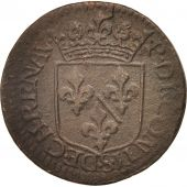 FRENCH STATES, CHATEAU-RENAUD, Liard, 1613, EF(40-45), Copper, KM:26.2, C2G:292