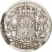 France, Charles X, 1/2 Franc, 1829, Lille, TB, Argent, Gadoury:402