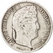 France, Louis-Philippe, 1/2 Franc, 1832, Paris, VF(20-25), Silver, KM:741.1