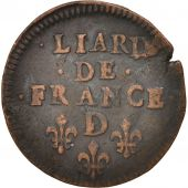 France, Louis XIV, Liard de France, 1656, Vimy, TB+, Cuivre, C2G:66