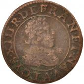France, Louis XIII, Double tournois, 1627, Paris, TB, Cuivre, CGKL:392