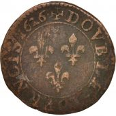 France, Louis XIII, Double tournois, 1626, Paris, TB, Cuivre, CGKL:390