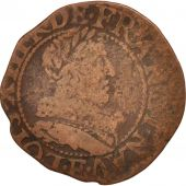 France, Louis XIII, Double tournois, 1634, Tours, TB, Cuivre, CGKL:440
