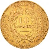 France, C�r�s, 10 Francs, 1896, Paris, EF(40-45), Gold, KM:830, Gadoury:1016