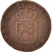 France, Louis XVI, Sol, 1783, Toulouse, VF(20-25), Copper, KM:578.10