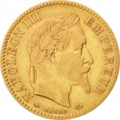 France, Napoleon III, 10 Francs, 1864, Paris, EF(40-45), Gold, KM:800.1