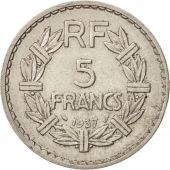 France, Lavrillier, 5 Francs, 1937, Paris, SUP, Nickel, KM:888, Gadoury:760
