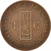 FRENCH INDO-CHINA, Cent, 1888, Paris, EF(40-45), Bronze, KM:1, Lecompte:40