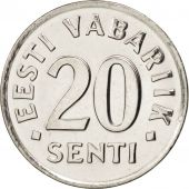 Estonia, 20 Senti, 2003, FDC, Nickel plated steel, KM:23a