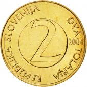 Slovenia, 2 Tolarja, 2000, MS(65-70), Nickel-brass, KM:5