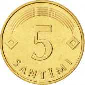 Latvia, 5 Santimi, 1992, FDC, Nickel-brass, KM:16