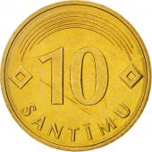 Latvia, 10 Santimu, 1992, , SPL+, Nickel-brass, KM:17