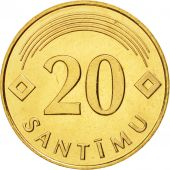 Latvia, 20 Santimu, 1992, FDC, Nickel-brass, KM:22.1