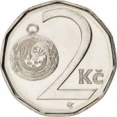 République Tchèque, 2 Koruny, 2002, FDC, Nickel plated steel, KM:9