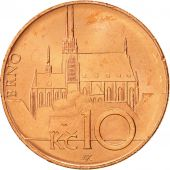 République Tchèque, 10 Korun, 2004, SPL+, Copper Plated Steel, KM:4