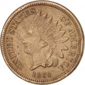 États-Unis, Indian Head Cent, 1860, Philadelphia, TTB, KM:90