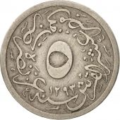 Égypte, Abdul Hamid II, 5/10 Qirsh, 1904, Misr, TB+, Copper-nickel, KM:291