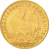 France, Marianne, 10 Francs, 1912, Paris, EF(40-45), Gold, KM:846, Gadoury:1017