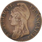 France, Dupré, 5 Centimes, An 4, 1795, Paris, TTB, Bronze, Gadoury:124