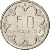 États de lAfrique centrale, 50 Francs, 1985, Paris, SUP, Nickel, KM:11