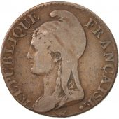 France, Dupré, 5 Centimes, An 4, 1795, Paris, TB+, Bronze, Gadoury:124