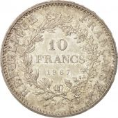 France, Hercule, 10 Francs, 1967, Paris, MS(60-62), Silver, KM:932, Gadoury:813