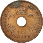 EAST AFRICA, George VI, 10 Cents, 1942, TTB, Bronze, KM:26.2